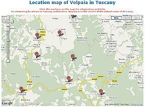 Location map of Volpaia